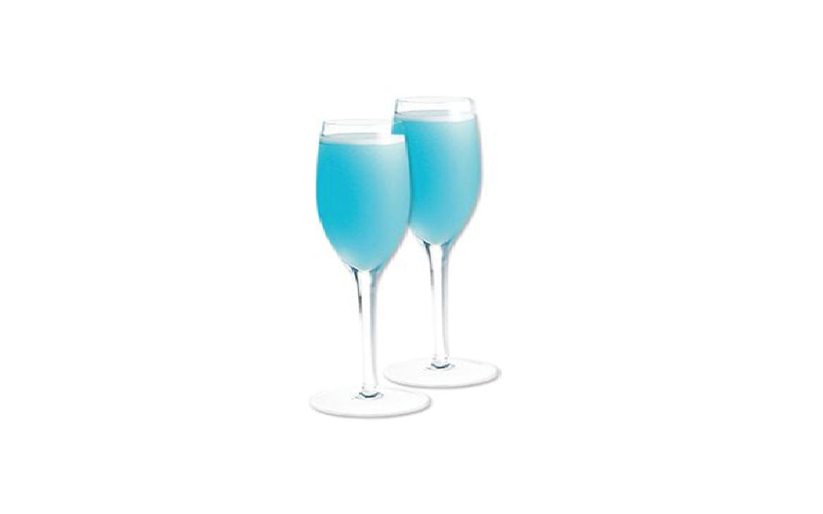 Sparkling Blu Wine Cocktail