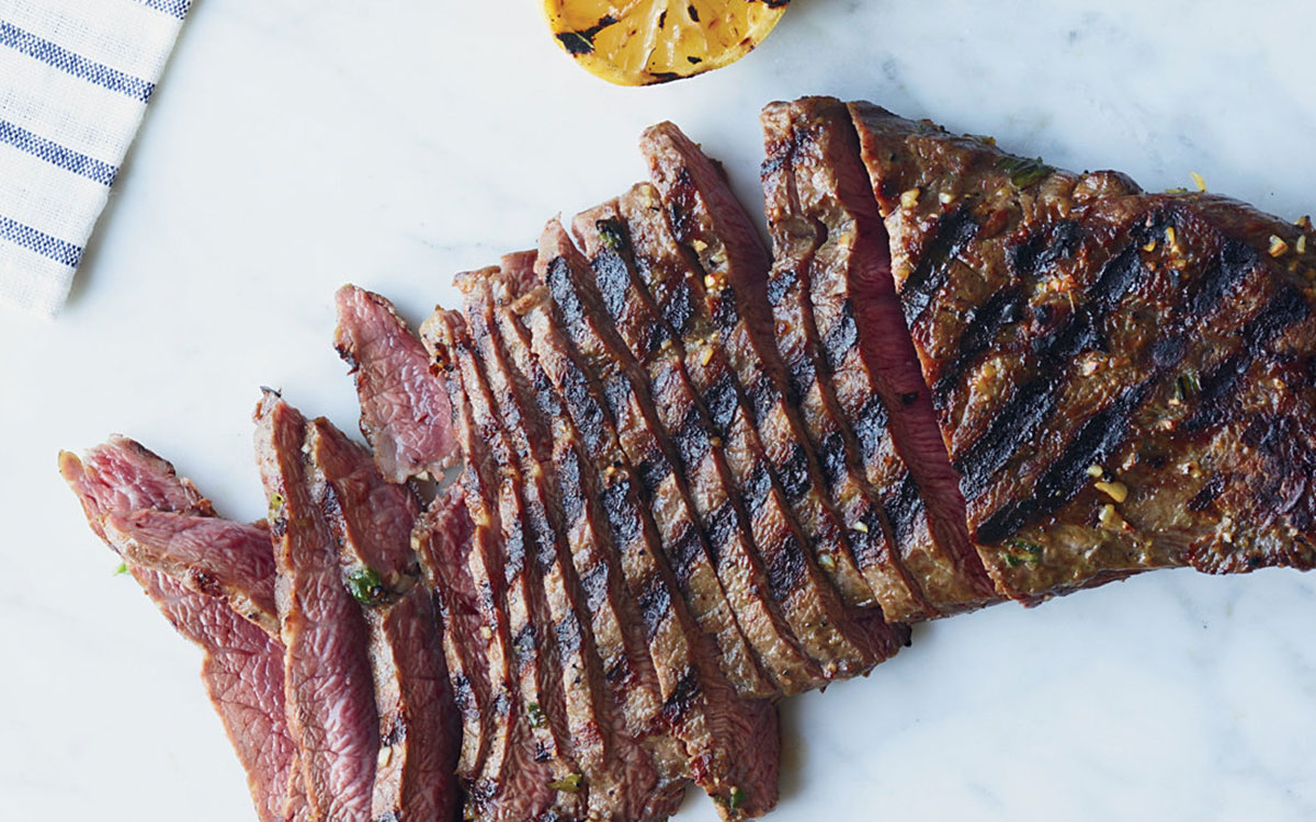 Savory Garlic Marinated Steaks Paired with Vin Bon's Ruby Cabernet